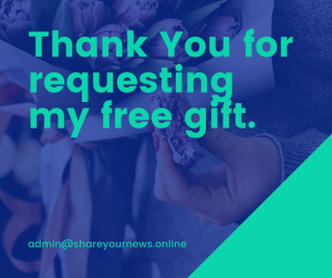 Thank you banner for free gift request